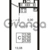 Продается квартира 1-ком 24.09 м² улица Катерников 1, метро Проспект Ветеранов