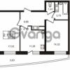 Продается квартира 2-ком 56.61 м² улица Катерников 1, метро Проспект Ветеранов