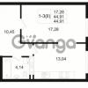 Продается квартира 1-ком 44.91 м² Малый пр. В.О. 64, метро Василеостровская