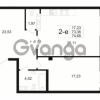 Продается квартира 1-ком 73.36 м² Малый пр. В.О. 64, метро Василеостровская