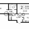 Продается квартира 2-ком 72.16 м² Новгородская улица 17, метро Чернышевская