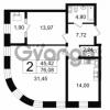 Продается квартира 2-ком 76.08 м² Новгородская улица 17, метро Чернышевская