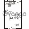 Продается квартира 1-ком 21.04 м² улица Шувалова 7, метро Девяткино