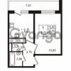 Продается квартира 1-ком 33.42 м² улица Шувалова 7, метро Девяткино