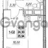 Продается квартира 1-ком 24.3 м² проспект Строителей 7, метро Улица Дыбенко