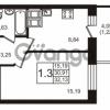 Продается квартира 1-ком 32.12 м² Новая улица 15, метро Ладожская