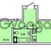 Продается квартира 1-ком 39.24 м² Центральная улица 83, метро Ладожская