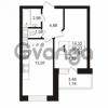 Продается квартира 1-ком 37.23 м² Кушелевская дорога 5к 5, метро Лесная