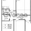 Продается квартира 3-ком 76.31 м² Английская улица 1, метро Улица Дыбенко