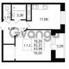 Продается квартира 1-ком 42.31 м² улица Костюшко 19, метро Московская