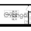 Продается квартира 1-ком 24.26 м² улица Костюшко 19, метро Московская