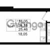 Продается квартира 1-ком 24.18 м² улица Костюшко 19, метро Московская