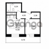 Продается квартира 1-ком 37.59 м² улица Костюшко 19, метро Московская