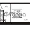 Продается квартира 1-ком 25.36 м² улица Шувалова 1, метро Девяткино