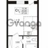 Продается квартира 1-ком 25.6 м² Охтинская аллея 4, метро Девяткино