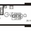 Продается квартира 1-ком 26.7 м² проспект Авиаторов Балтики 1, метро Девяткино