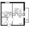 Продается квартира 1-ком 32.23 м² проспект Авиаторов Балтики 2, метро Девяткино