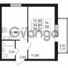 Продается квартира 1-ком 34.34 м² проспект Авиаторов Балтики 2, метро Девяткино
