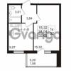 Продается квартира 1-ком 31.04 м² проспект Авиаторов Балтики 2, метро Девяткино