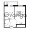 Продается квартира 1-ком 32.53 м² проспект Авиаторов Балтики 2, метро Девяткино