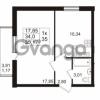 Продается квартира 1-ком 34 м² проспект Авиаторов Балтики 2, метро Девяткино