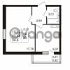 Продается квартира 1-ком 33.48 м² проспект Авиаторов Балтики 2, метро Девяткино