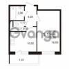 Продается квартира 1-ком 34.58 м² улица Адмирала Черокова 18к 2, метро Проспект Ветеранов