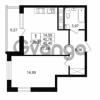 Продается квартира 1-ком 42.76 м² Столичная улица 1, метро Улица Дыбенко