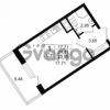 Продается квартира 1-ком 24.31 м² Столичная улица 1, метро Улица Дыбенко