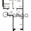 Продается квартира 2-ком 54.63 м² улица Адмирала Черокова 18к 3, метро Проспект Ветеранов