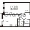 Продается квартира 1-ком 37.64 м² Столичная улица 1, метро Улица Дыбенко