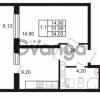 Продается квартира 1-ком 31.59 м² Комендантский проспект 53к 1, метро Комендантский проспект