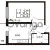 Продается квартира 1-ком 31.74 м² Комендантский проспект 53к 1, метро Комендантский проспект