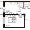 Продается квартира 1-ком 36.48 м² Комендантский проспект 53к 1, метро Комендантский проспект