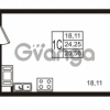 Продается квартира 1-ком 24.25 м² Комендантский проспект 53к 1, метро Комендантский проспект
