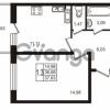 Продается квартира 1-ком 36.68 м² Комендантский проспект 53к 1, метро Комендантский проспект