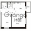 Продается квартира 2-ком 51.2 м² Комендантский проспект 53к 1, метро Комендантский проспект
