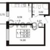 Продается квартира 1-ком 31.48 м² Комендантский проспект 53к 1, метро Комендантский проспект