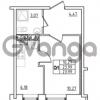 Продается квартира 1-ком 23.99 м² Привокзальная улица 1, метро Купчино