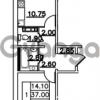 Продается квартира 1-ком 38.55 м² Привокзальная улица 1, метро Купчино