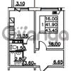 Продается квартира 1-ком 43.45 м² Привокзальная улица 1, метро Купчино