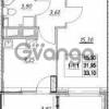 Продается квартира 1-ком 31.95 м² Столичная улица 1, метро Улица Дыбенко