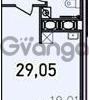 Продается квартира 1-ком 29.05 м² Дунайский проспект 13к 2, метро Звездная