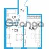Продается квартира 1-ком 40.71 м² Дунайский проспект 13к 2, метро Звездная