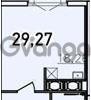 Продается квартира 1-ком 29.27 м² Дунайский проспект 13к 2, метро Звездная