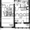 Продается квартира 1-ком 40.95 м² Парашютная улица 54, метро Комендантский проспект