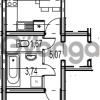 Продается квартира 1-ком 41.2 м² Парашютная улица 54, метро Комендантский проспект