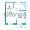Продается квартира 1-ком 39.78 м² Петровский бульвар 3, метро Девяткино
