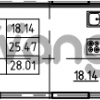 Продается квартира 1-ком 28.01 м² Петровский бульвар 3, метро Девяткино