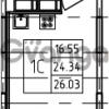 Продается квартира 1-ком 26.03 м² Петровский бульвар 3, метро Девяткино